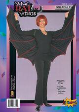 Terciopelo # Murciélago Alas Drácula Vampiro Disfraz de Halloween Accesorio