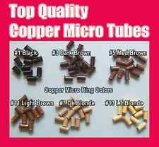 100 COPPER MICRO RINGS | MICROBEADS | TUBE | 4.5mm Hair Extensions Beads, I-tip