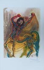 "SALVADOR DALI : ""Le Centaure"" LITHOGRAPHIE SIGNEE ARCHES ISRAEL 1983"