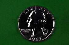 1961 Brilliant   Washington SILVER US GEM  Proof Quarter (90% SILVER)