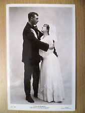1912 Theatre Postcard:THE BONDMAN:Grace Chalmers & Cecil A. Collins (+Stamp)
