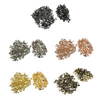 100 Sets Metal Double Cap Round  Rivets for Leather Craft Belt Bags 6x10mm