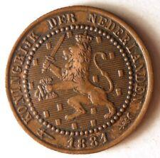 1881 NETHERLANDS CENT - High Quality AU Coin - FREE SHIP - Netherlands Bin B