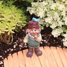 CUTE! FAIRY GARDEN MINIATURE Gardening Gnome Figurine NEW #D161512