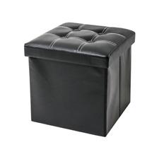 Rebecca Mobili RE4257 Pouf Cubo Contenitore 30x30x30cm - Nero