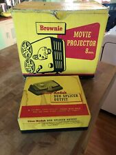 Vintage Kodak Brownie 8 mm Movie Projector W/ Box And Splicer
