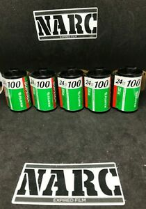 5 x Fujifilm Superia 100 35mm expired film out of date