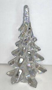 "Pressed Art Glass Christmas Tree 6.5"" Iridescent"