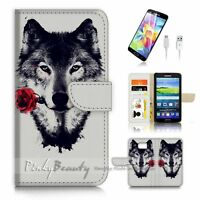( For Samsung Galaxy S7 ) Case Cover P3229 Rose Husky Dog