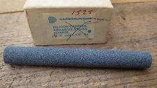 "1 x grossier ronde CARBORUNDUM SILICON carbure abrasif stick stone 4"" x 1/2"""