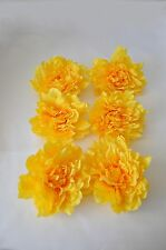 Silk/Artificial Yellow Dahlia Flower Head x 6