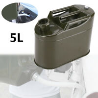 5L Motorcycle Spare Fuel Tank Metal Barrel Tank Car SUV Petrol Oil Container Can