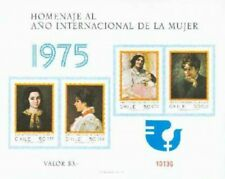 CHILE, NICE SOUVENIR BLOCK - INTERNATIONAL WOOMEN's YEAR