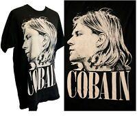 Kurt Cobain Vintage Faded T shirt Concert Nirvana Band grunge 90s nevermind Y2k