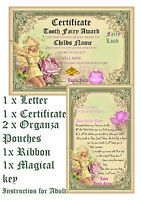 Personalised Tooth Fairy Certificate letter enchanting magical  keepsake