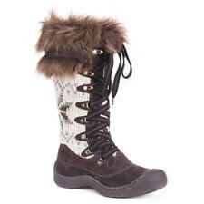 Muk Luks Gwen Brown Winter Boots, womens size 7