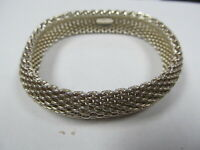 TIFFANY & CO STERLING SILVER SOMERSET MESH BRACELET XLNT COND
