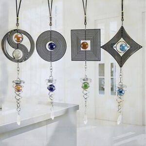 Stainless Steel Spiral Wind Chimes Hanging Spinner Home Garden Yard Decoration/