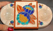 RARE Longwy France Art Pottery Combination Ashtray/Cigarette Box Art Deco! WOW!