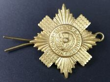 Scots Guards Brass Cap Badge, Restrike in Very Good Condition.