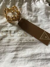 Gold Coloured Diamanté Womens Crown GUESS Ring. Approx Size 'O' New In Box.