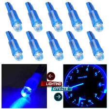 10Pcs T5 12V LED SMD Blue Car Wedge Dashboard DASH Gauge Light DIY Lamp Bulbs
