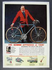 9fc1d2acb22 1976 Schwinn Le Tour Bike Bicycle color photo vintage print Ad