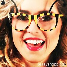 Funny Crazy Honeybee Glasses Costume Party Sunglasses Fancy Dress Accessories