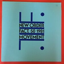 New Order Fact 50 1981 Movement LP Rare Excellent Condition