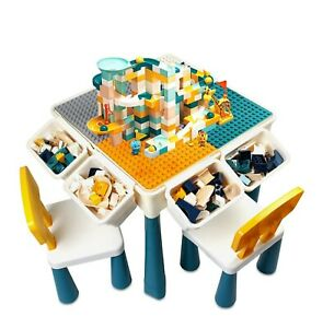 Toddler Activity Table, Kids Table & Chair Set All-in-One Multi Activity Playset