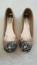 Women's Aldo tan feather and jewel ballet flats - Euro size 37 (US size 6.5)