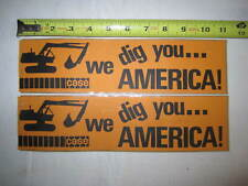 2 Vintage CASE Equipment Bumper Stickers Advertising Free Shipping
