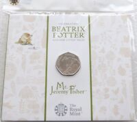 2017 Royal Mint Beatrix Potter Mr Jeremy Fisher 50p Fifty Pence Coin Pack