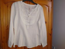 Ivory sheer long sleeve top, beading detail, CREAM, size 12, NEW BNWT see desc