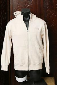 North Face Mens Biege Faux Fur Lined Warm Hoodie Jacket M