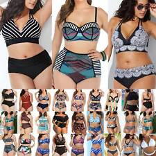 Women Lady High Waist Padded Bikini Set Swimsuit Holiday Beach Swimming Swimwear