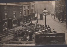 More details for postcard -  getting coal in the main street, bilston - real photo c1905