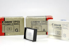 CANON FOCUSING SCREEN L ( F1 F-1 ) TIPO B/A/G -NUOVI/NEW