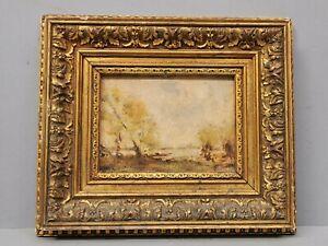 ancien tableau / Huile sur Bois signé René DUBOIS ?  paysage