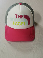 The North Face Youth M Trucker Hat PINK Logo NWT Adjustable Mesh Back FREE SHIP