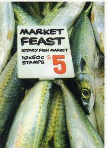 2007 AUSTRALIAN STAMP BOOKLET MARKET FEAST SYDNEY FISH 10 x 50c STAMPS MUH