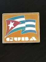 Vintage Collectible Cuba Flag Colorful Metal Pinback Lapel Pin Hat Pin