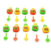 5PCS/SET PLASTIC CARTOON KEYS TOY LOCKS NOTEBOOK LOCK TOY FOR KIDS BIRTHDAY GIFT