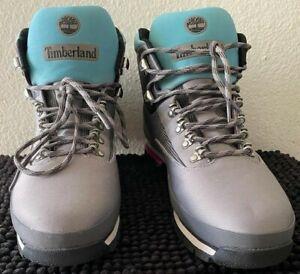 Timberland Euro Hiker Boots. A2274 A3949 Grey Blue Pink. Men's Size 13 NEAR MINT