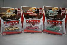 DISNEY PIXAR CARS LOT 3 SERIES RUSTEZE RACING DONNA PITS VERN RUSTY RUST EZE NEW