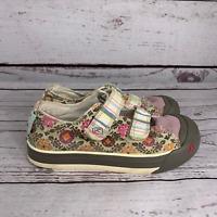 Keen Womens Multicolor Sula Floral Stripe Canvas Hook & Loop Closure Shoes 13