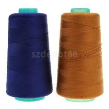 2 Spool Polyester Jeans Sewing Thread for Sewing Machines 20S/2