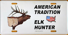 American Tradition-Elk Hunter-License Plate