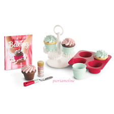 American Girl Doll WILLIAMS SONOMA CUPCAKE SET~Baking~Kitchen Bakery Accessory