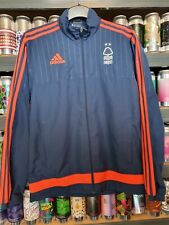 Nottingham Forest Adidas Mens Small Lightweight Training Jacket Blue Orange Trim